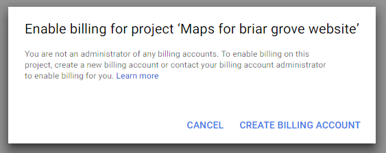google maps api enable billing